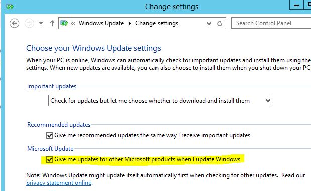 definition of important updates